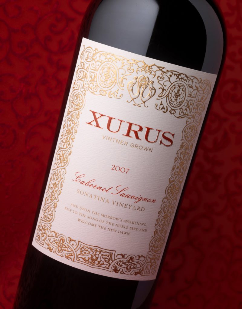 Xurus Wine Packaging Design & Logo
