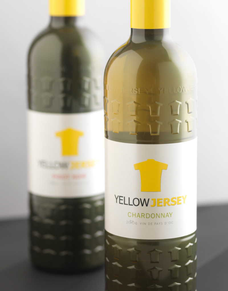 Yellow Jersey Custom Wine Bottle Design