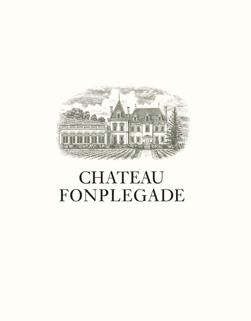 Château Fonplégade Logo Design