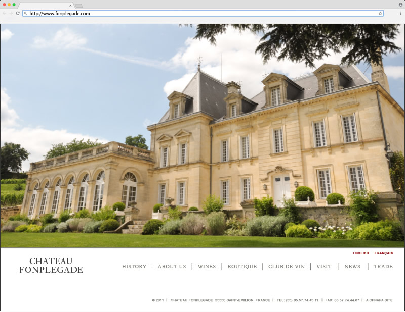 Château Fonplégade Home Page Website Design
