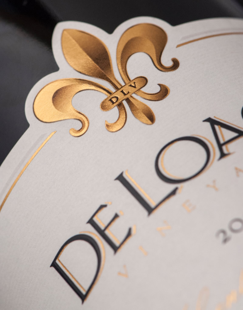 DeLoach Vineyards Wine Packaging Design & Logo Label Detail