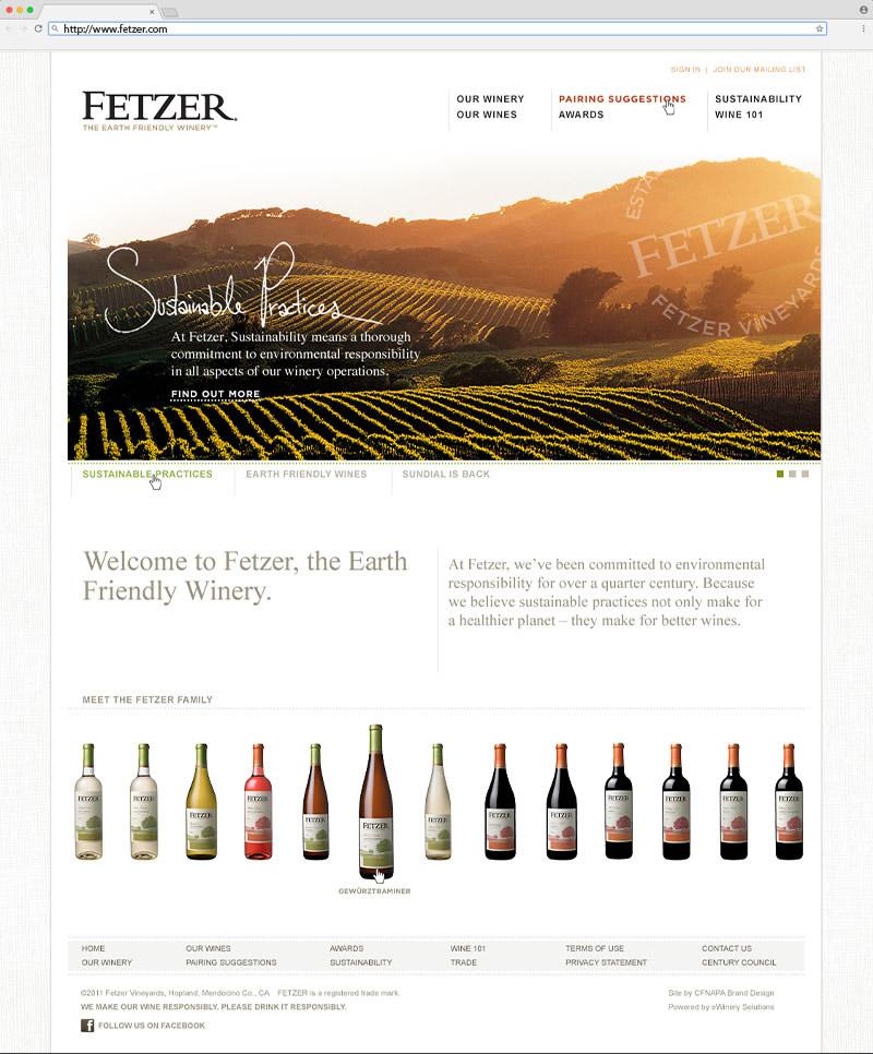 Fetzer Home Page Website Design