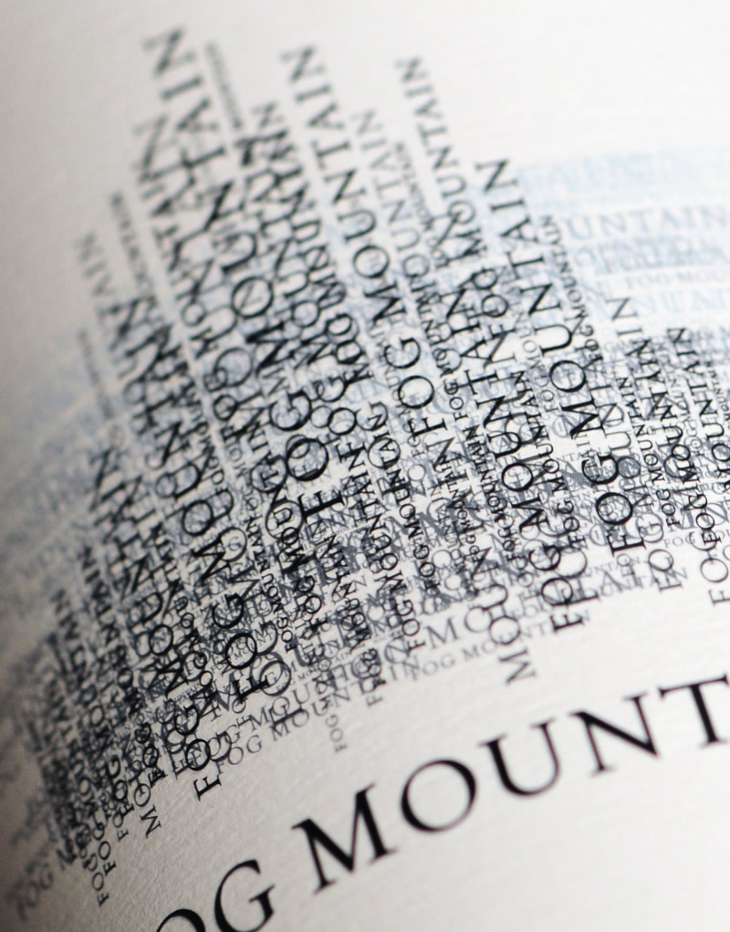 Fog Mountain Wine Packaging Design & Logo Label Detail