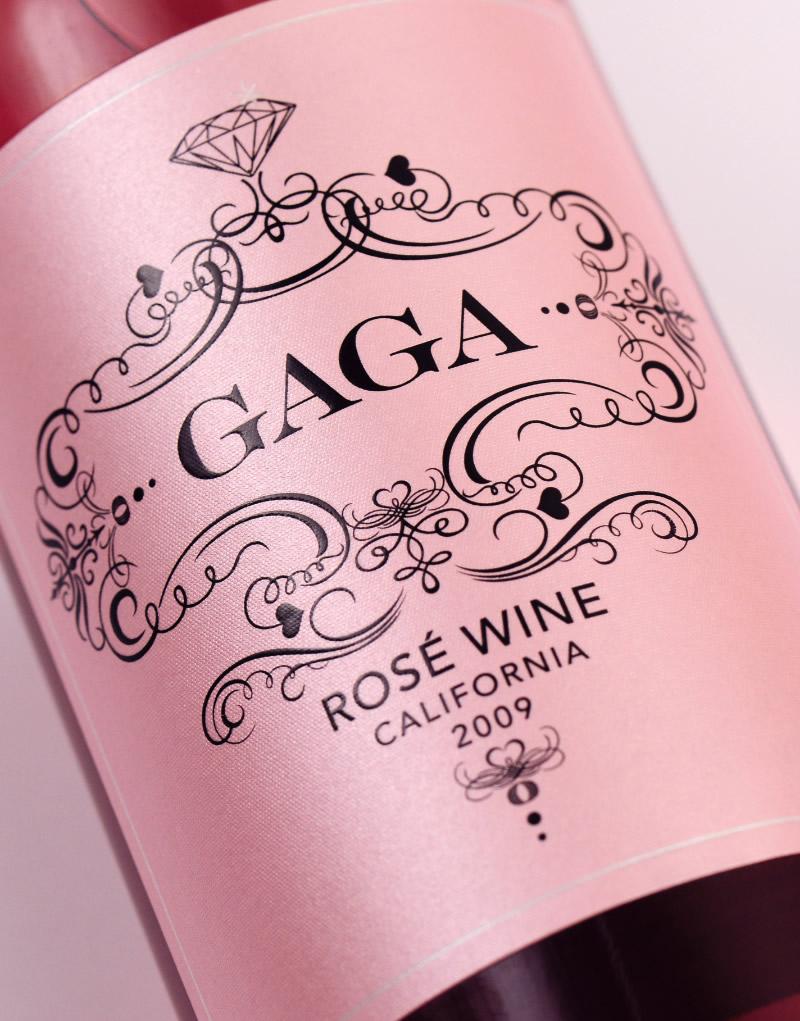 GaGa Wine Packaging Design & Logo Label Detail