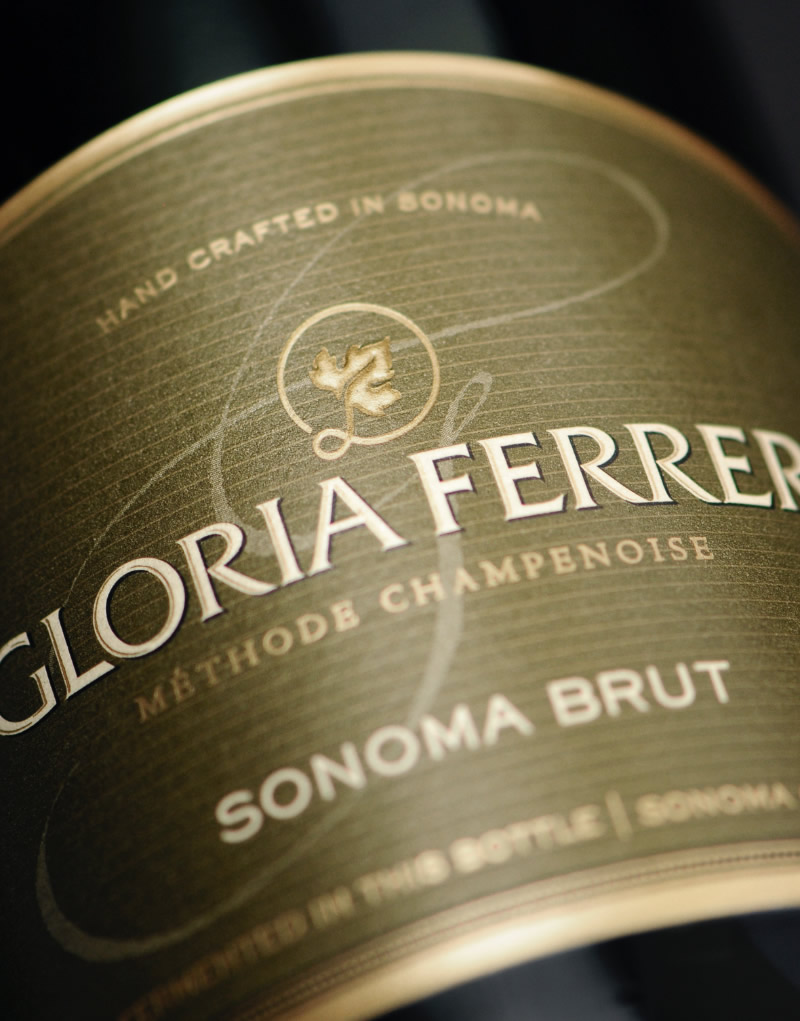 Gloria Ferrer Wine Packaging Design & Logo Sparkling Brut
