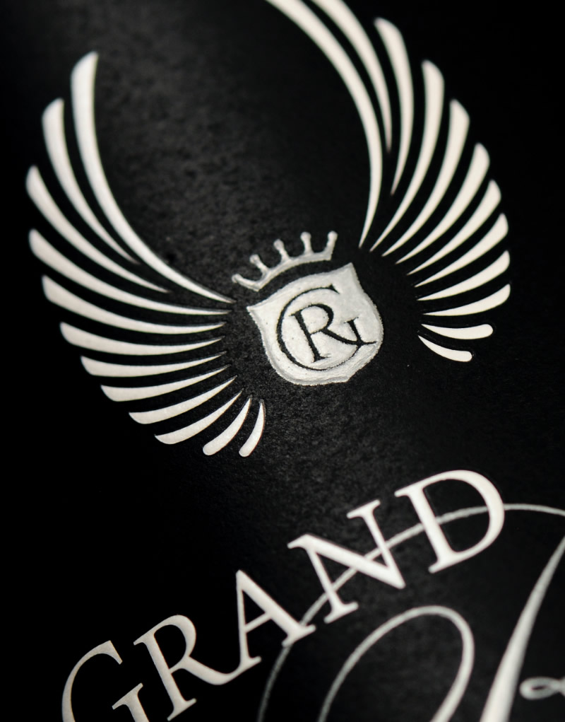 Grand Rêve Vintners Wine Packaging Design & Logo Label Detail