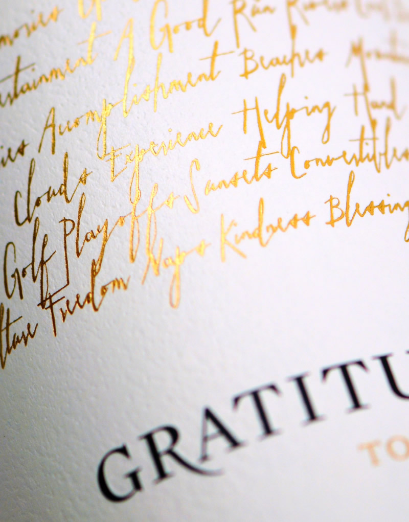 Gratitud Wine Packaging Design & Logo Label Detail