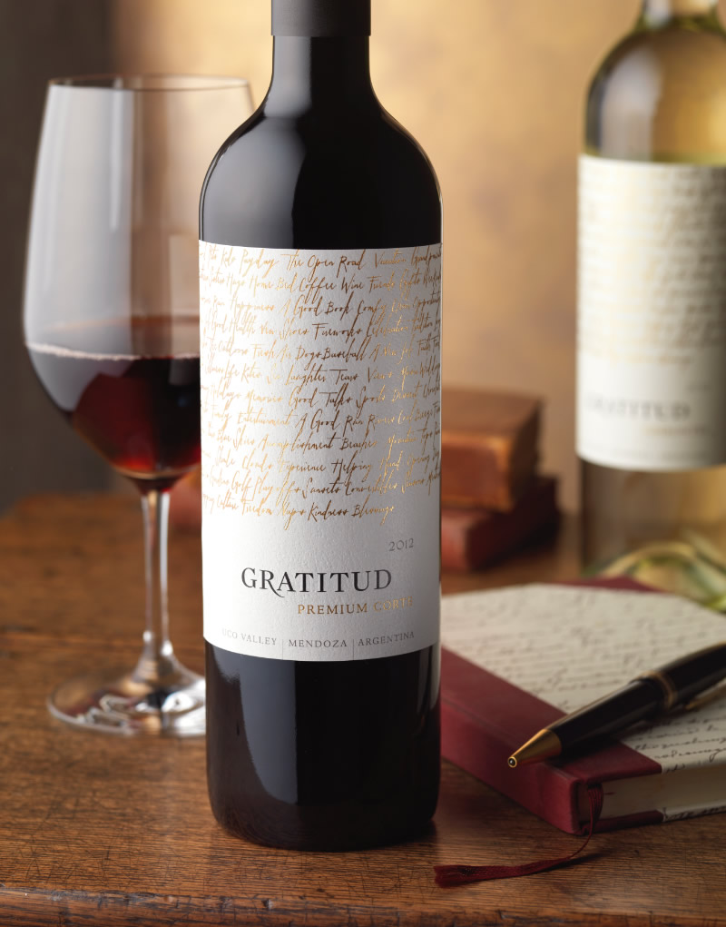 Gratitud Wine Packaging Design & Logo