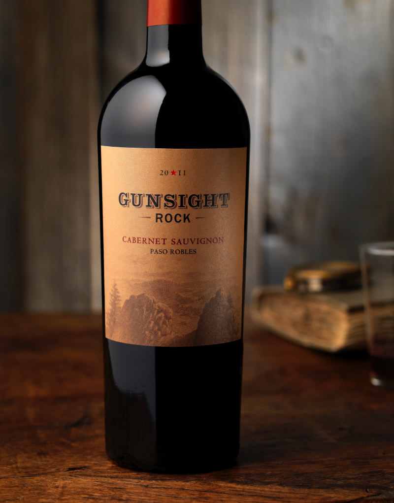Gunsight Rock Wine Packaging Design & Logo