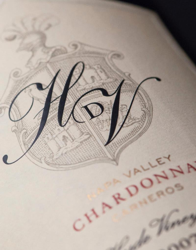 HdV Wine Packaging Design & Logo Label Detail