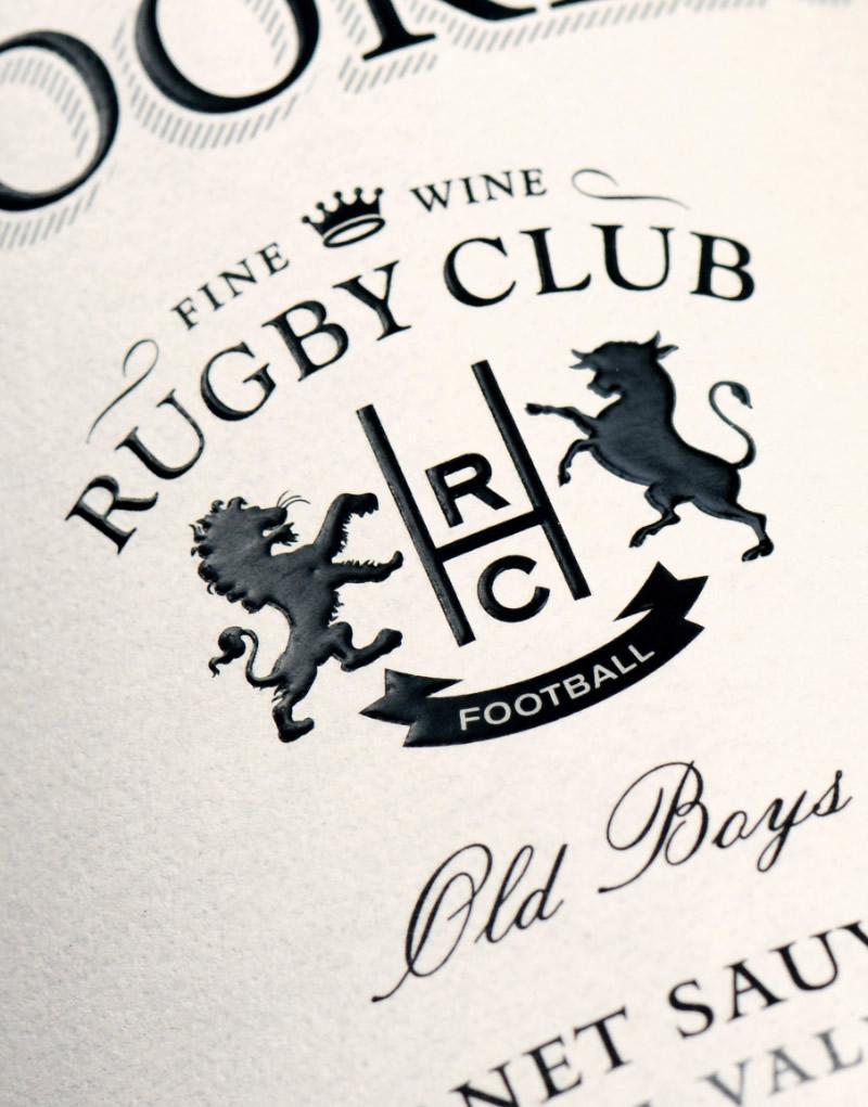 Hooker Wine Packaging Design & Logo Label Detail