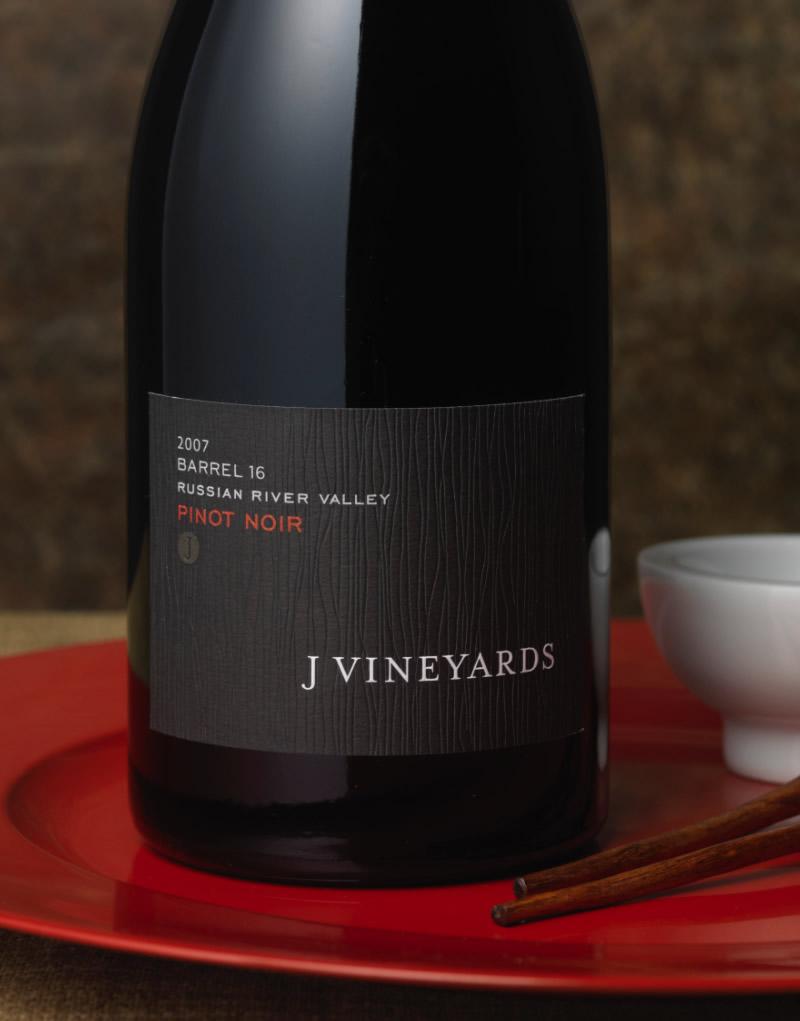 J Vineyards & Winery Packaging Design & Logo Barrel 16 Pinot Noir