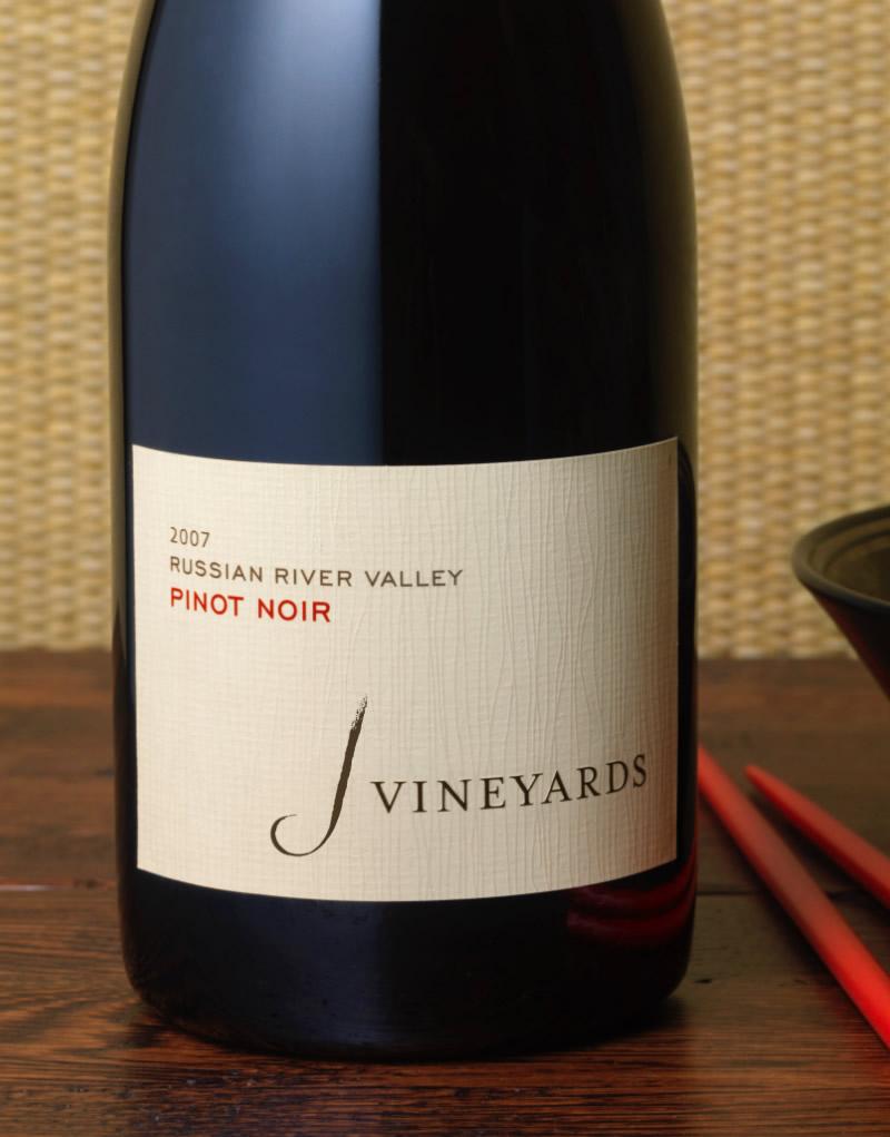 J Vineyards & Winery Packaging Design & Logo Pinot Noir