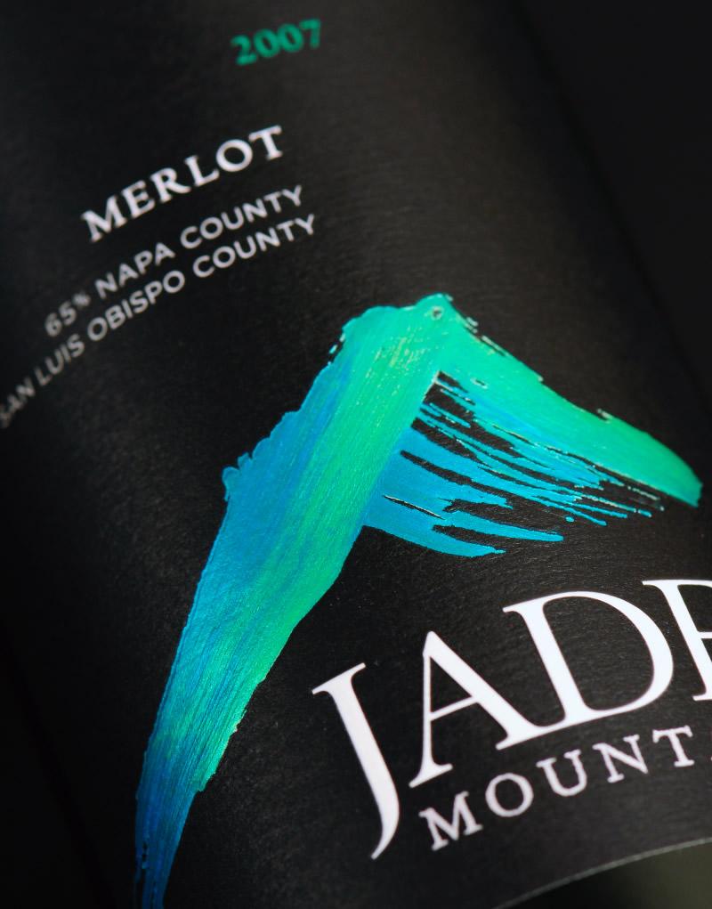 Jade Mountain Wine Packaging Design Label Detail