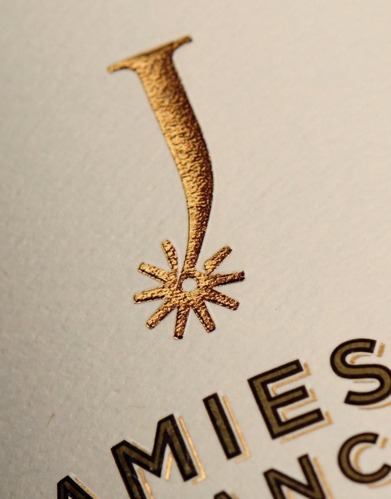 Jamieson Ranch Wine Packaging Design & Logo Label Detail