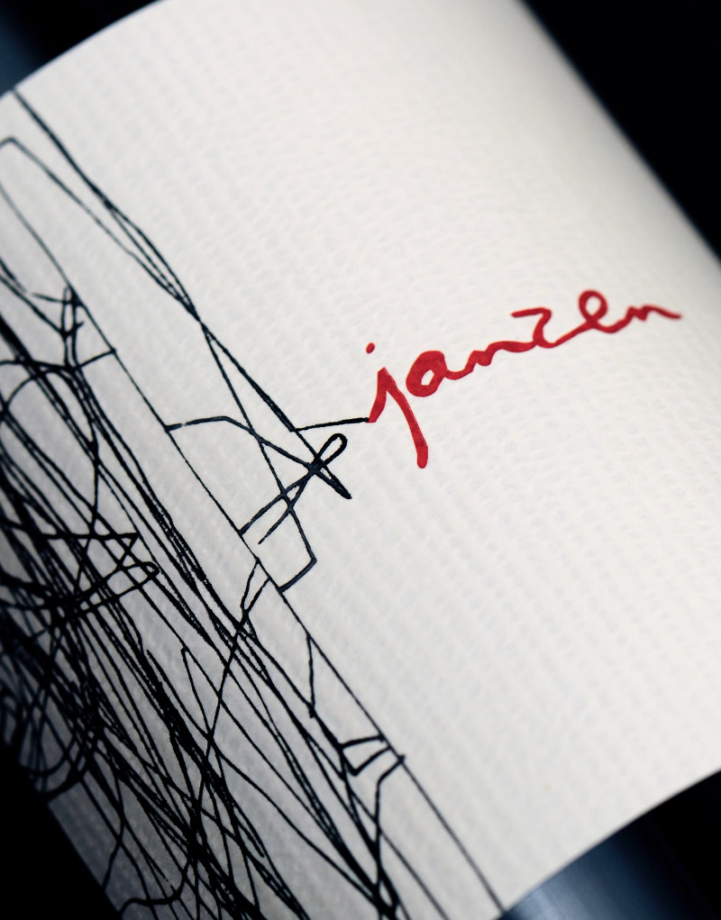 Janzen Wine Packaging Design & Logo Label Detail