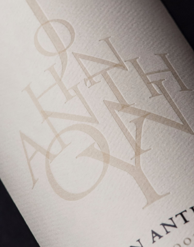 John Anthony Wine Packaging Design & Logo Label Detail