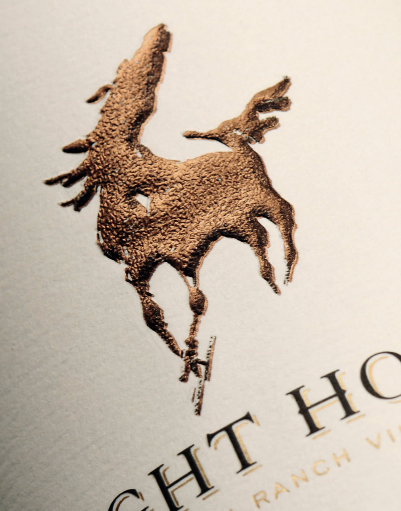 Light Horse Wine Packaging Design & Logo Label Detail