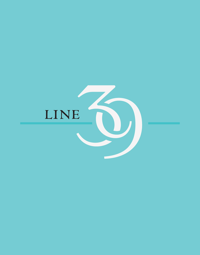 Line 39 Blue Background Logo Design