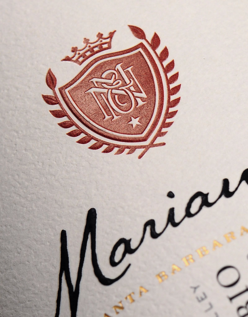 Marianello Wine Packaging Design & Logo Label Detail