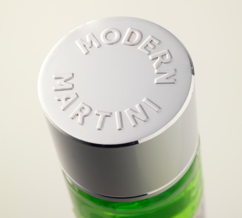 Modern Martini Ready-to-Drink Cocktails Packaging Design & Logo Closure Detail