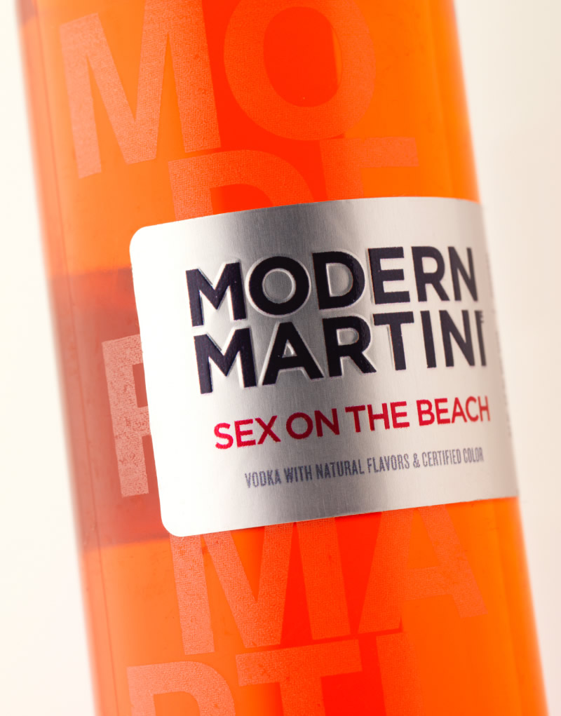 Modern Martini Ready-to-Drink Cocktails Packaging Design & Logo Label Detail