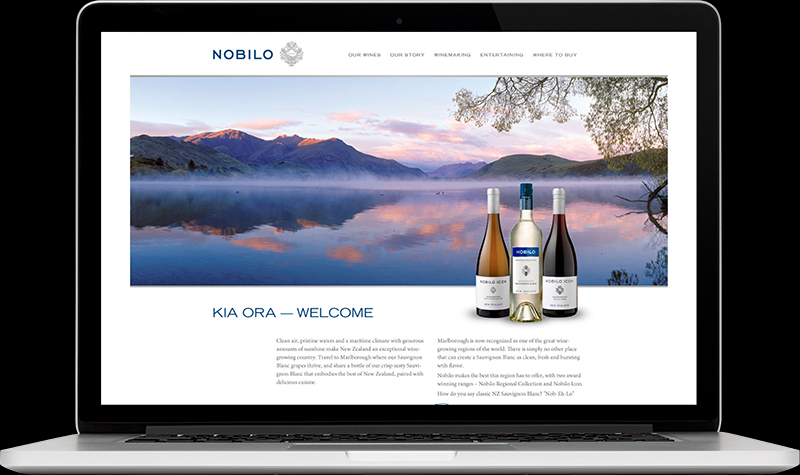 Nobilo Wines Homepage Website Design