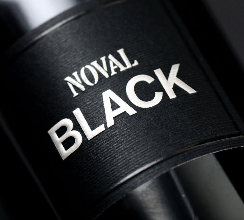 Noval Black Wine Packaging Design & Logo Label Detail