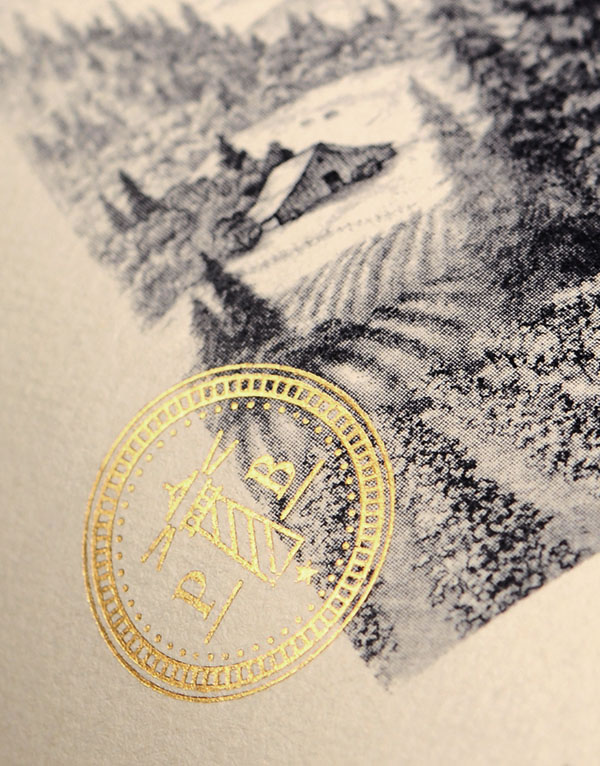 Pacific Bay Wine Packaging Design & Logo Label Detail