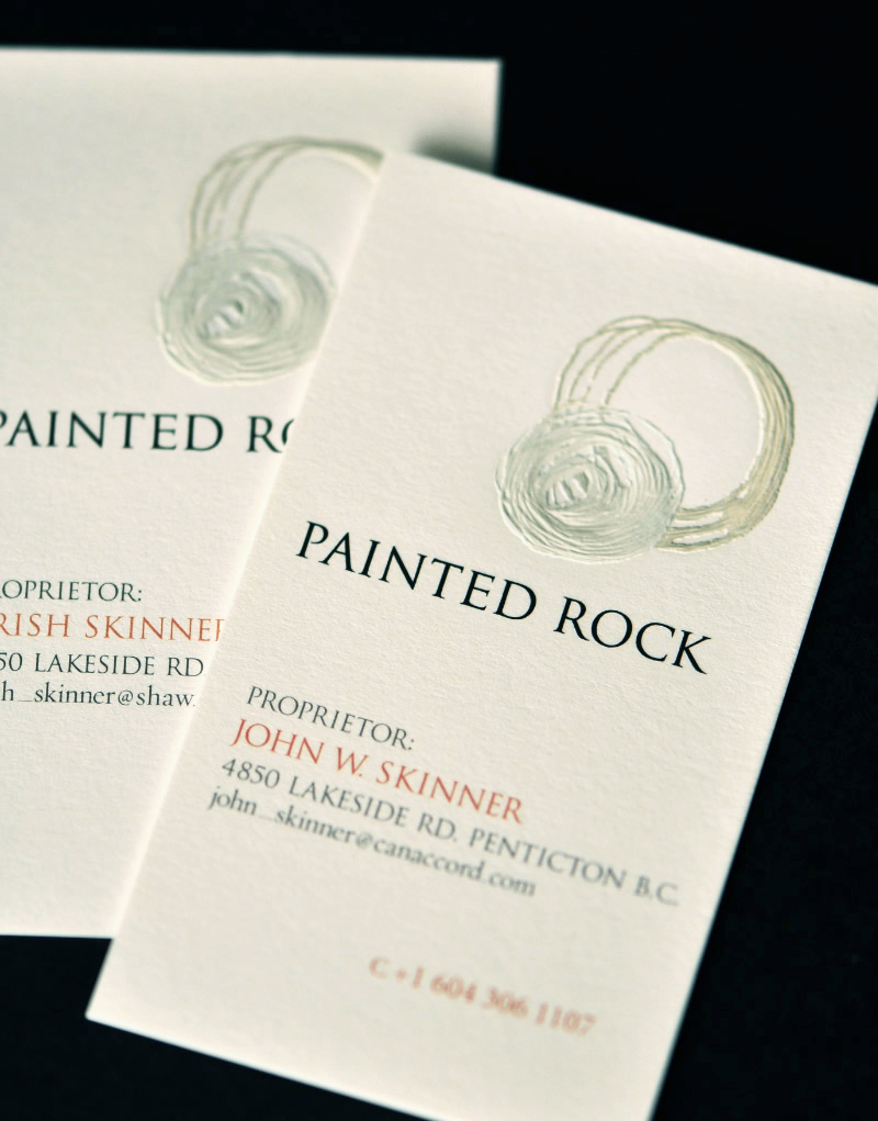 Painted Rock Estate Winery Business Card Design