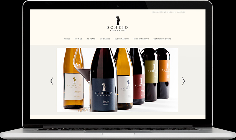 Scheid Vineyards Homepage Website Design