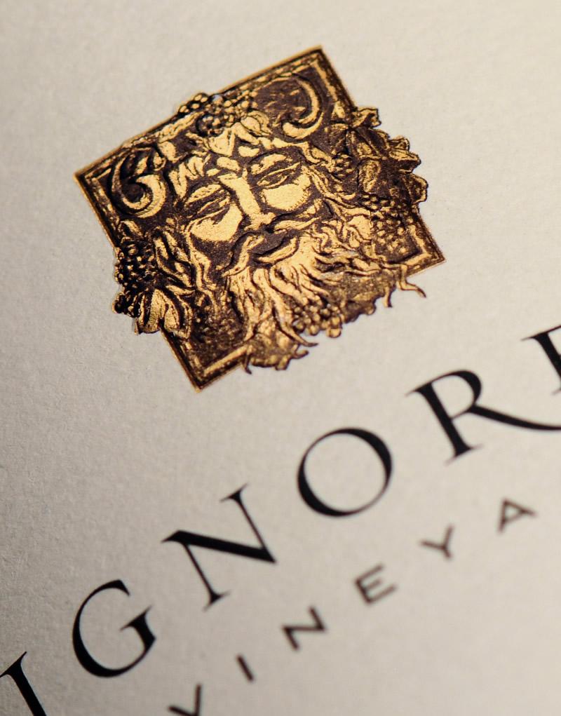 Signorello Estate Wine Packaging Design & Logo Label Detail