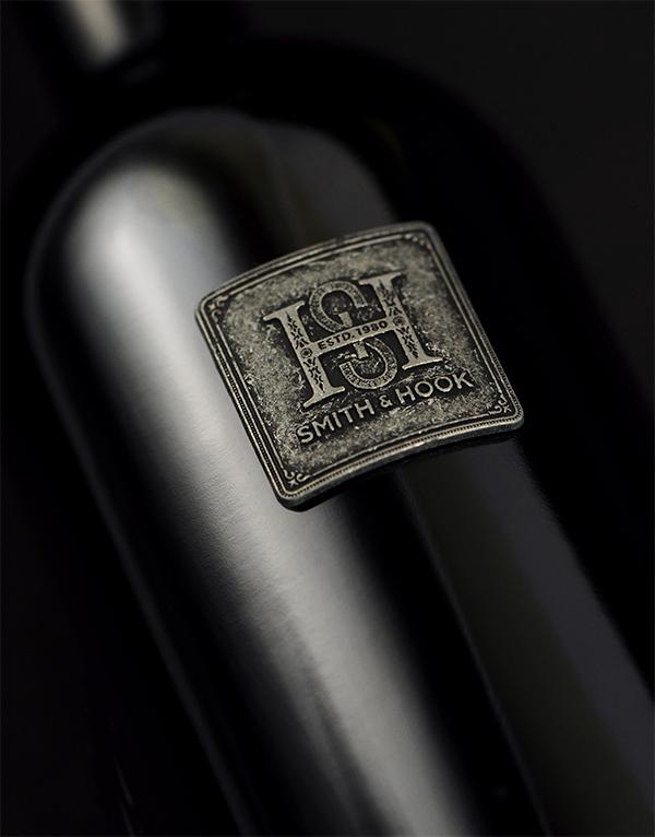 Smith & Hook Wine Packaging Design & Logo Vineyard Designate Bottle Detail