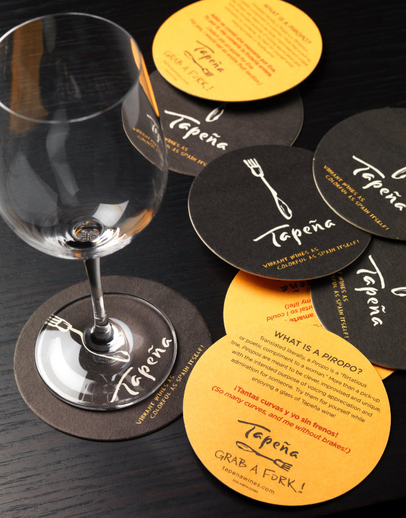 Tapeña Coasters Design