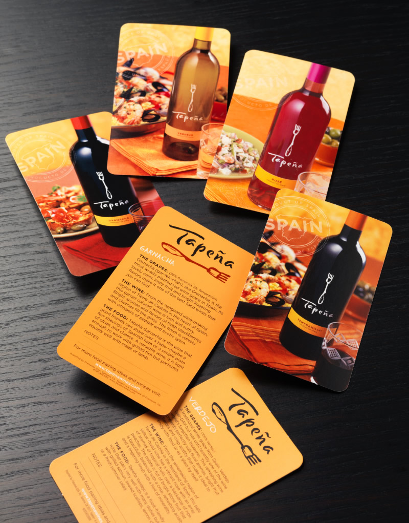 Tapeña Tasting Cards Design