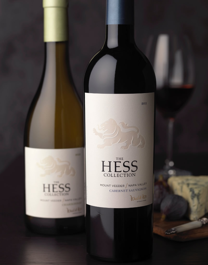 The Hess Collection Wine Packaging Design & Logo