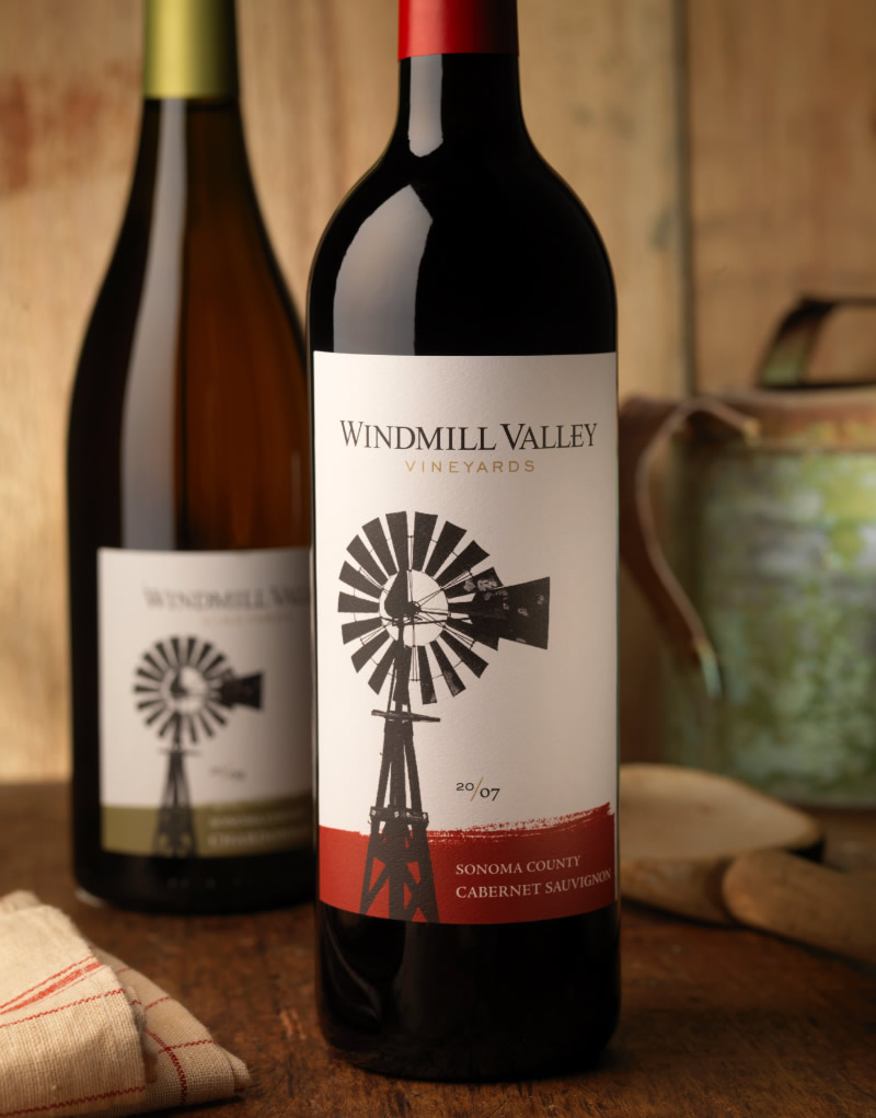 Windmill Valley Wine Packaging Design & Logo
