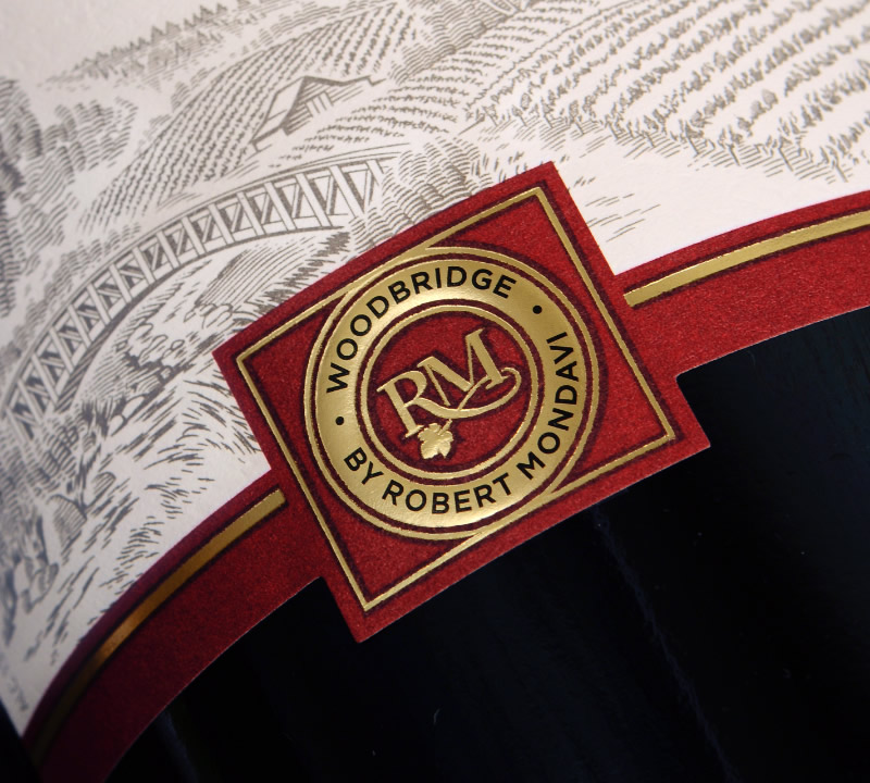 Woodbridge Wine Packaging Design & Logo Label Detail