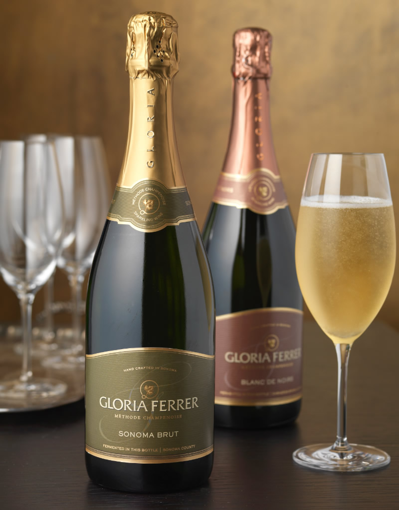 Gloria Ferrer Wine Packaging Design & Logo Sonoma Brut & Blanc de Noirs
