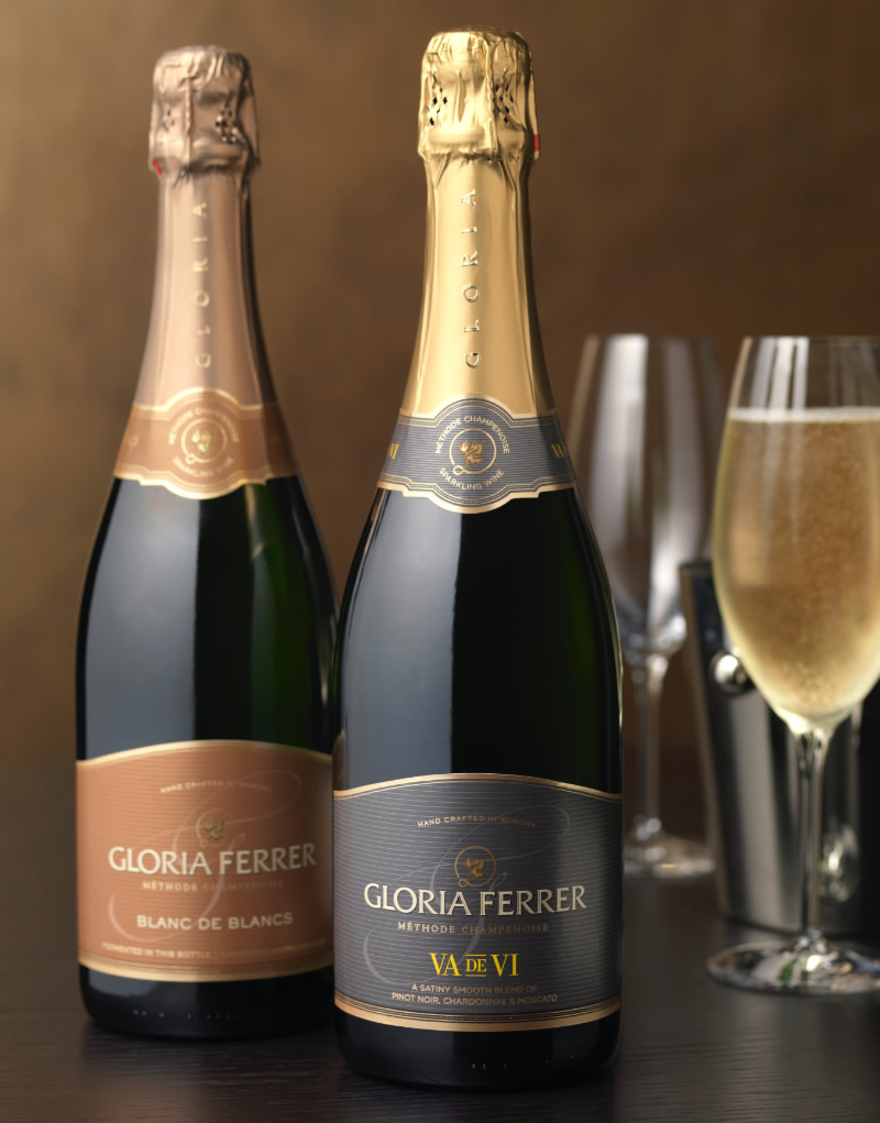 Gloria Ferrer Wine Packaging Design & Logo Va de Vi & Blanc de Blancs