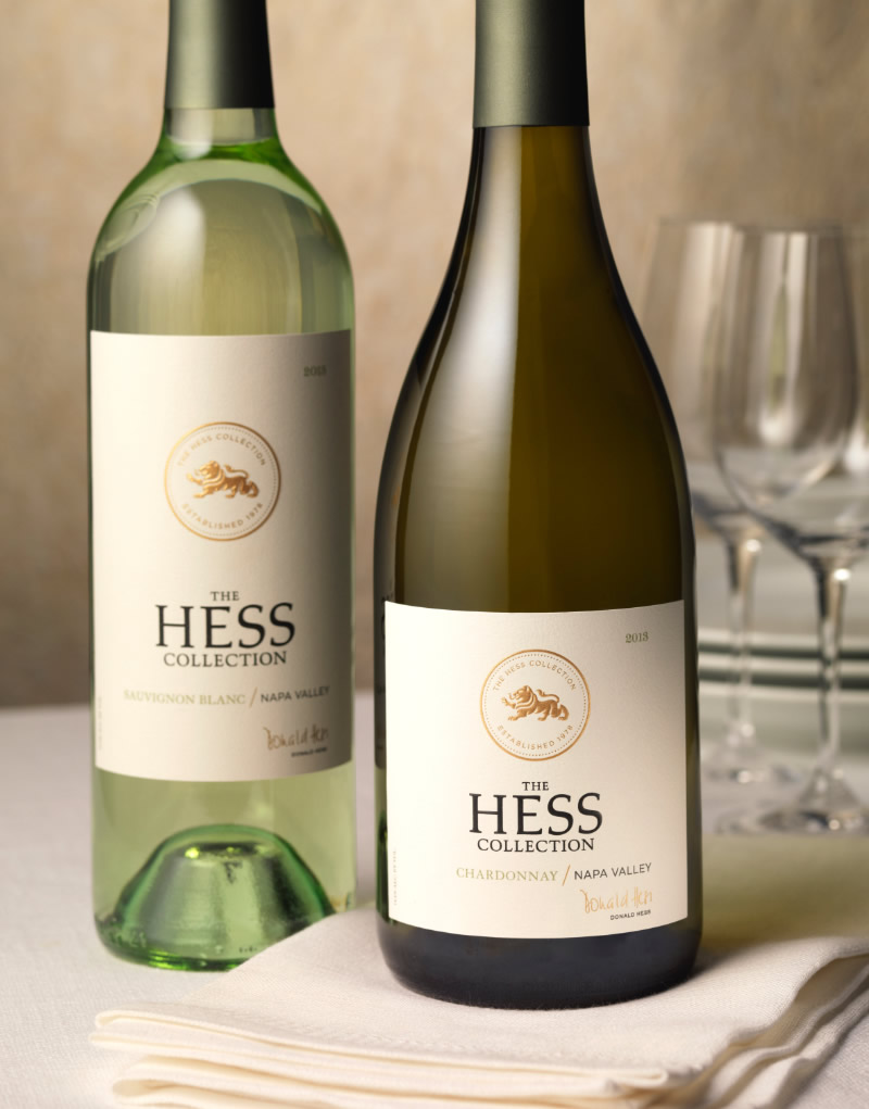 The Hess Collection Wine Packaging Design & Logo Napa Valley Wines