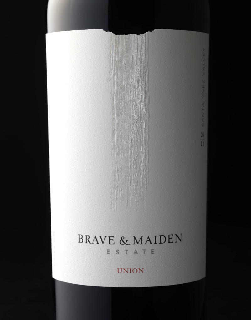 Brave & Maiden Wine Packaging Design & Logo Union