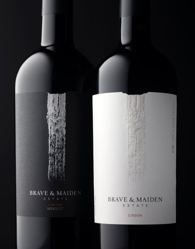 Brave & Maiden Wine Packaging Design & Logo
