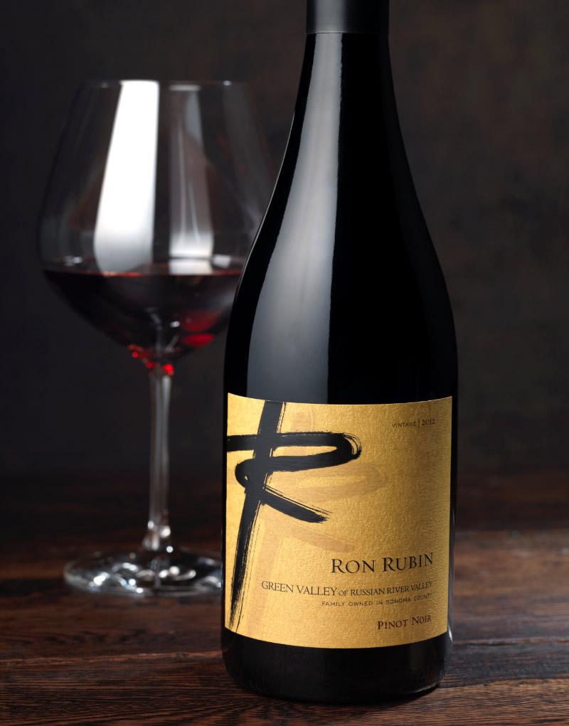 Ron Rubin Winery Packaging Design & Logo Green Valley