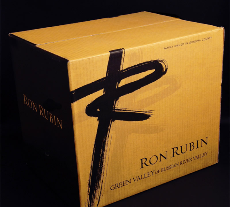 Ron Rubin Winery Shipper Design
