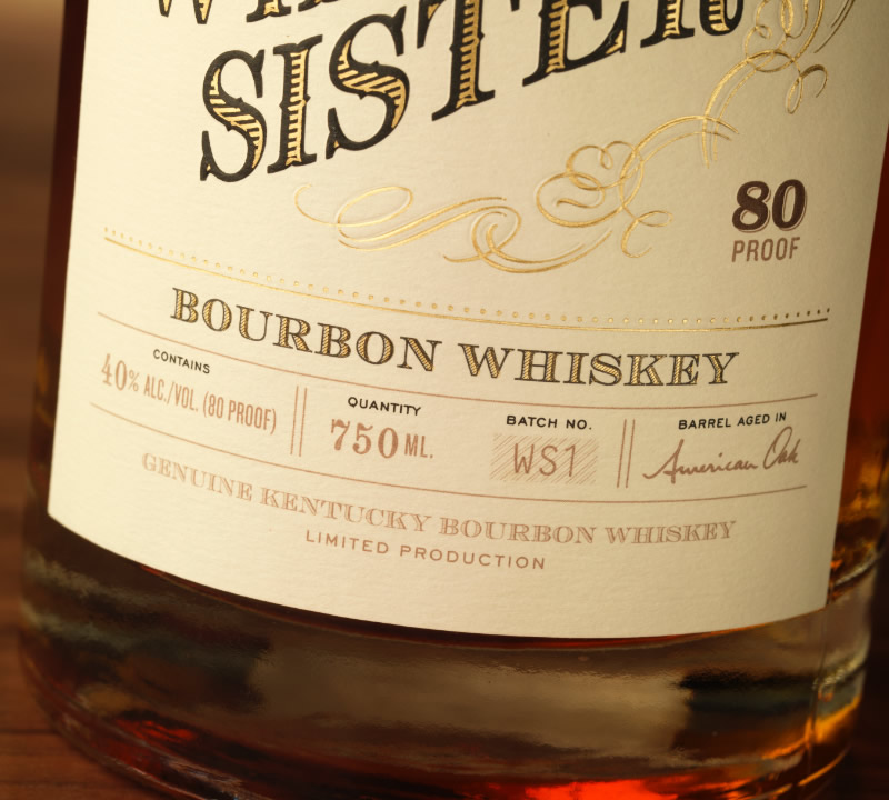Whiskey Sister Packaging Design & Logo Label Detail