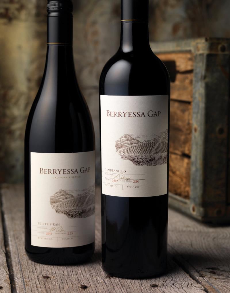 Berryessa Gap Wine Packaging Design & Logo Upper Tier
