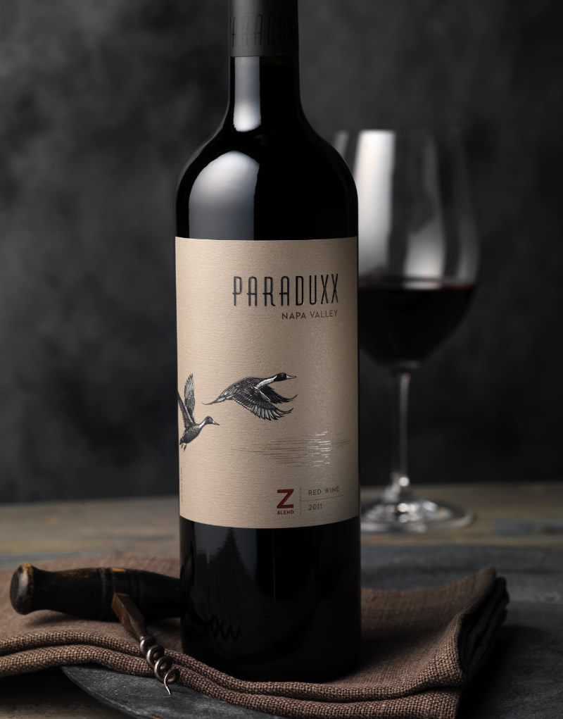 Paraduxx Wine Packaging Design & Logo Z Blend