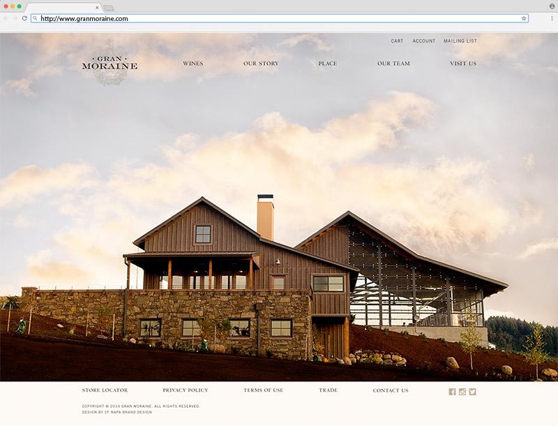 Gran Moraine Home Page Website Design