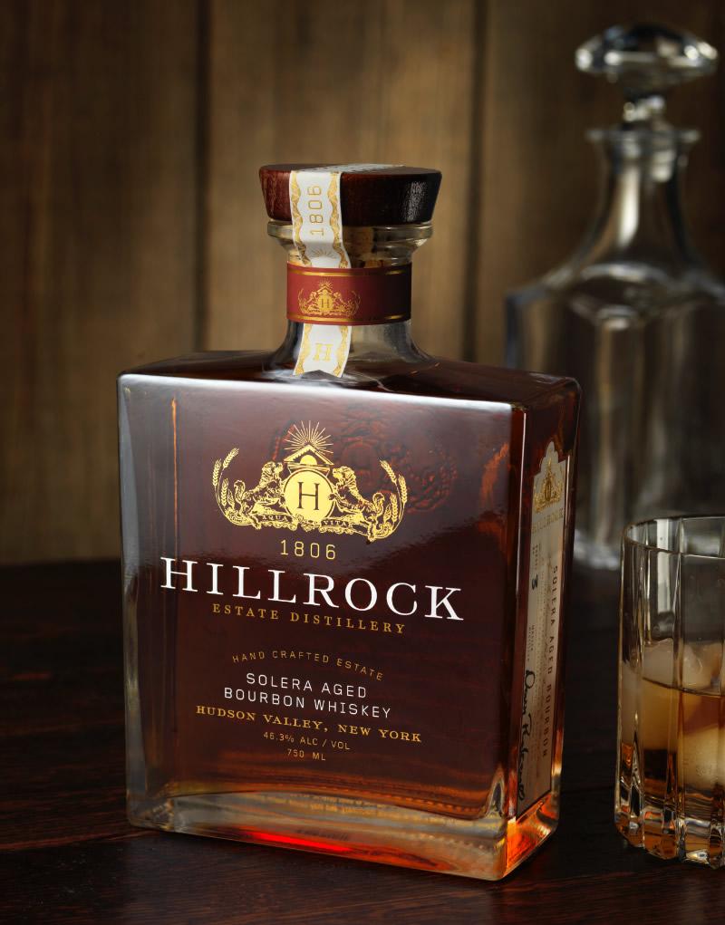 Hillrock Estate Distillery Bourbon Whiskey Packaging Design & Logo